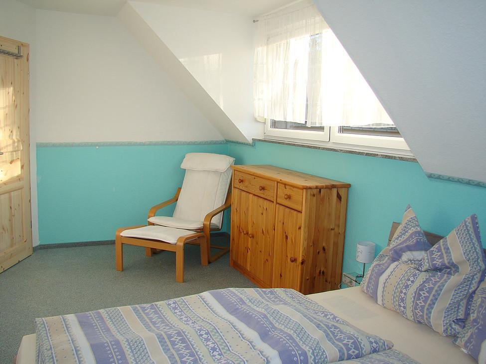 2. Schlafzimmer OG Ecke Ferienhaus zu Wohlsborn bei Weimar