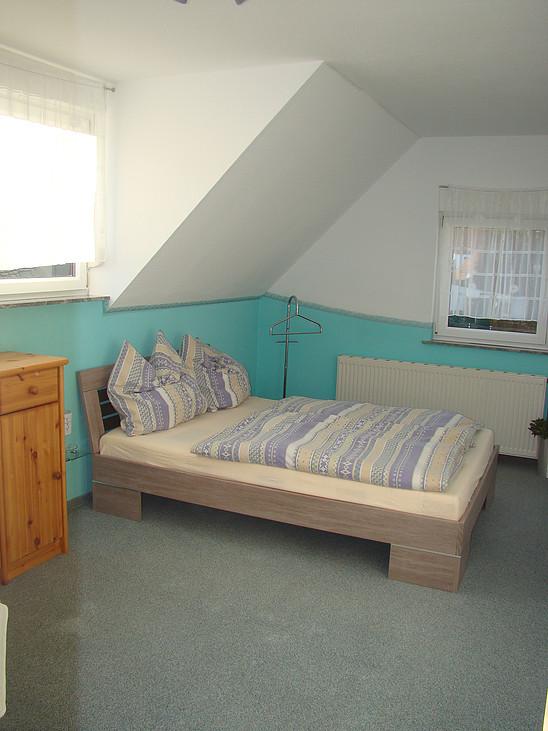 2. Schlafzimmer OG im Ferienhaus zu Wohlsberg bei Weimar