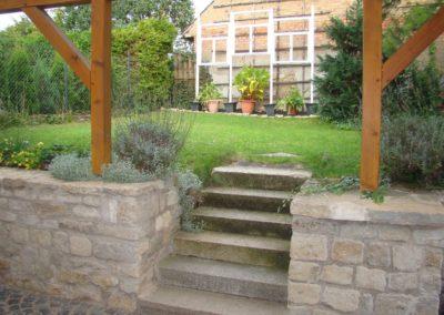 Ferienhaus zu Wohlsborn Treppe zum Garten