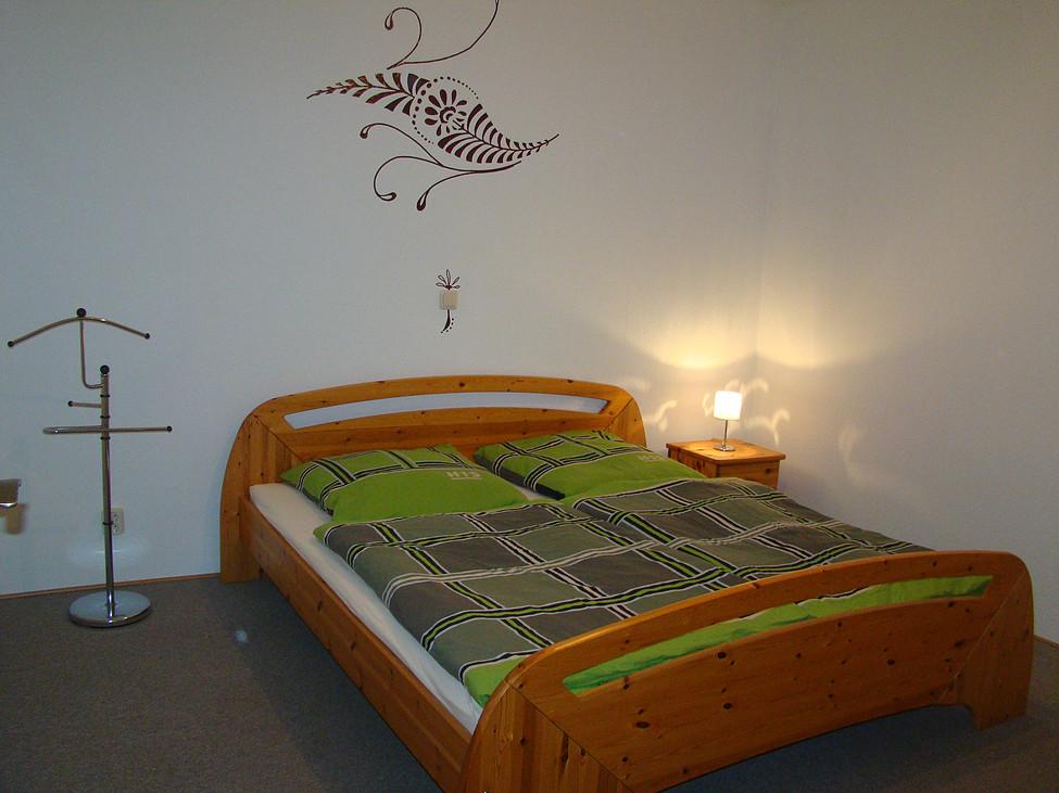 Schlafzimmer im UG des Feriehaus zu Wohlsborn nahe Weimar