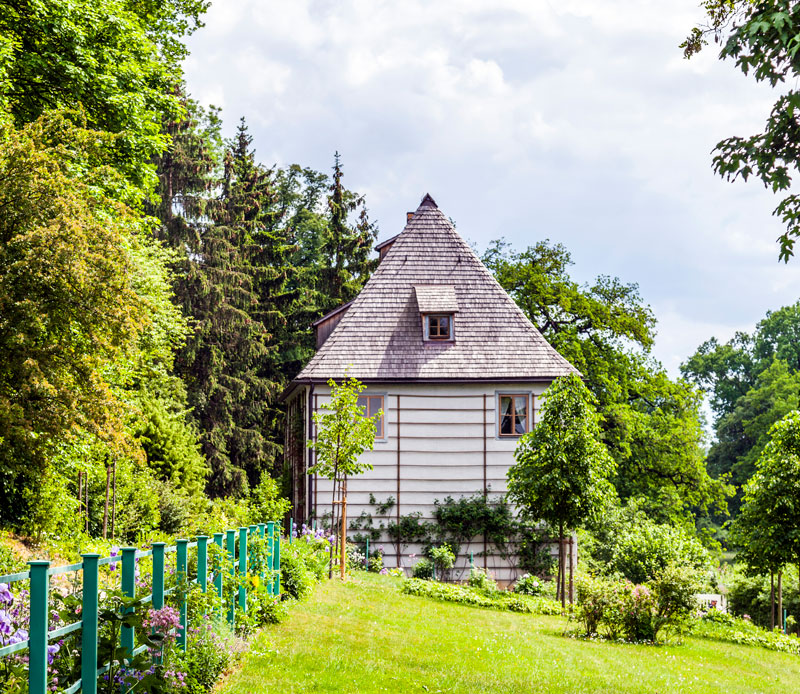 Goethes Gartenhaus im Ilmpark in Weimar