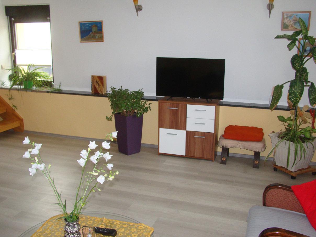 Flachbildfernseher im Ferienhaus zu Wohlsborn